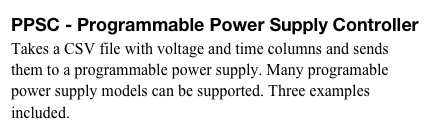 PPSC - Programmable Power Supply Controller 