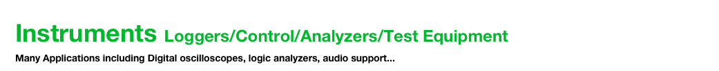Instruments Loggers/Control/Analyzers/Test Equipment 